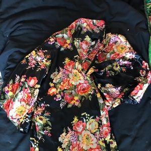 Short Silky Robe